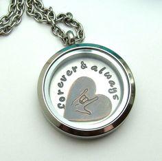 Hand Stamped Locket Necklace  Personalized by FiredUpLadiesHammer
