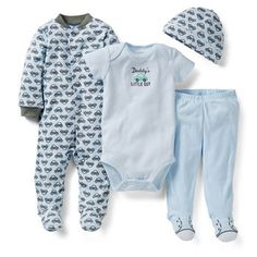 """""""Daddy's little guy"""" 4-Piece Outfit Set from Carter's."""