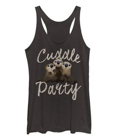 Another great find on #zulily! Heather Black Finding Dory 'Cuddle Party' Tank - Women #zulilyfinds