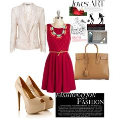 Red lace sophisticate