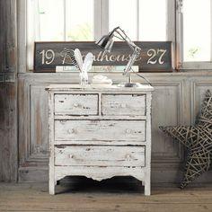 c moda de mango blanco efecto envejecido an 94 cm. Black Bedroom Furniture Sets. Home Design Ideas