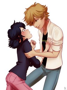 Adrian and Marinette Adrian And Marinette, Marinette Et Adrien, Miraculous Ladybug Wallpaper, Miraculous Ladybug Fan Art, Meraculous Ladybug, Ladybug Comics, Ladybug Cakes, Lady Bug, Miraculous Marinette