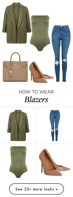 """Olive Casual"" by mpowery on Polyvore featuring WearAll, Topshop, New Look, Office and Yves Saint Laurent"