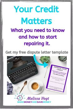 Let's face it. Understanding your credit and credit score can be overwhelming. Everyone knows It's important to build good credit, but not everyone knows how to repair bad credit. In this post I am going to share some tips on credit and credit repair. Repin and pick up your free DIY credit dispute letter template. #CreditRepair #BadCredit #GoodCredit #CreditDispute #CreditScore #DIYCreditRepair #creditrepairtemplates Fix Your Credit, Improve Your Credit Score, Build Credit, Make More Money, Make Money Blogging, Saving Money, Extra Money, Extra Cash, Money Tips