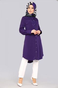 61b55ed33fb 13 Best Modanisa images | Hijab Fashion, Dress online, Robes