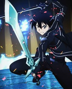Sword Art Online gets better and better with every passing episode. Watching the anime, reading the Light Novel and manga at the same time, it's like I ju. 5 Anime, Anime Shows, Otaku Anime, Anime Guys, Sword Art Online Asuna, Kirito Sword, Kunst Online, Online Art, Sao Kirito And Asuna