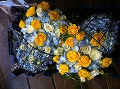 Beautiful floral prams. It's a boy!