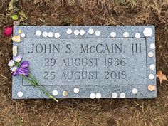 John Sidney McCain, III (1936-2018) - Find A Grave Memorial Peace In The Valley, Famous Tombstones, Cemetery Decorations, Famous Graves, Cemetery Art, Losing Friends, Famous Stars, Graveyards, Grave Memorials