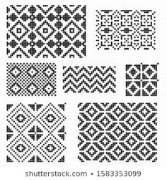 Lignende bilder, arkivbilder og vektorer av Set of Norwegian Star knitting patterns, vector seamless patterns – 554493310 | Shutterstock Hat Patterns, Knitting Patterns, Image, Knit Patterns, Knitting Stitch Patterns, Loom Knitting Patterns