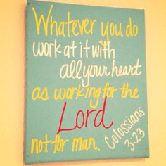 I actually taught this Bible verse at Sunday School! :D
