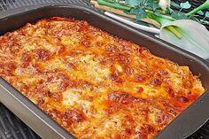 Béchamel-Hackfleisch-Lasagne 1 with ham steak Béchamel-Hackfleisch-Lasagne von Kochprofie Pork Chop Recipes, Meatloaf Recipes, Salmon Recipes, Potato Recipes, Fish Recipes, Healthy Meals To Cook, Healthy Recipes, Healthy Cooking, Lunch Recipes