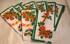 Beautiful Set of 8 Vintage Christmas Design by TwoCatsVintage