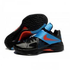 fd9da93238d3 Hot Sale Online Nike Zoom KD IV Kevin Durant Shoes White Black Blue
