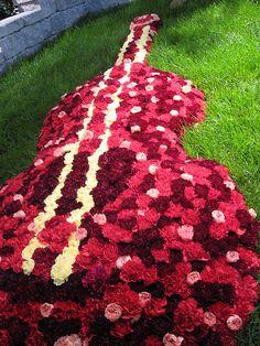 Pretty Flowers in Guitar Shape