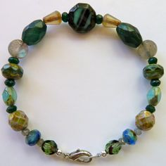 Custom made Irene LAVA jewels bracelet in semi-precious stone beads and other tasty treats.