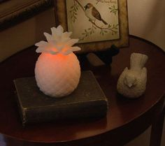 Home Reflections Pineapple Flameless Candle w/ Timer — QVC.com
