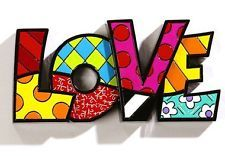 """Lady J is about to attempt this!  ROMERO BRITTO """"LOVE"""" WORD ART AUTHENTIC"""