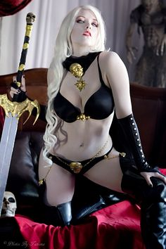 Lady Death cosplay by Toni Darling  https://www.facebook.com/tonidarlingAZ  (vivolatino.com pinterest)