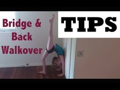 BRIDGE and back WALKOVER TUTORIAL tips: how to improve gymnastic SHOULDER FLEXIBILITY