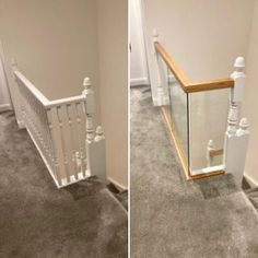 Our Wonderful Gallery of Staircases Refurbishments | Stairfurb's Gallery Oak Newel Post, Newel Post Caps, Wall Mounted Handrail, Oak Handrail, Stainless Steel Handrail, Stair Lighting, Glass Balustrade, Newel Posts, Staircases
