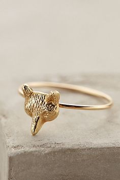 Gold Sly Fox Ring