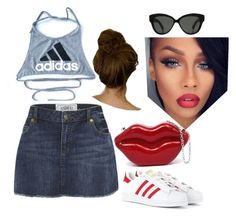 A fashion look from August 2015 featuring crop tops, embroidered skirt and leather sneakers. Browse and shop related looks. Linda Farrow, Leather Sneakers, Adidas Originals, Fashion Looks, Crop Tops, Animal, Skirts, Polyvore, Shopping