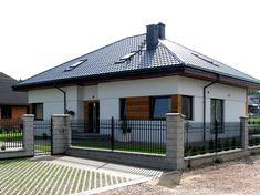 House Gate Design, Village House Design, Village Houses, Minimalist House Design, Minimalist Home, One Storey House, Modern Family House, Modern Fence Design, Brick Columns