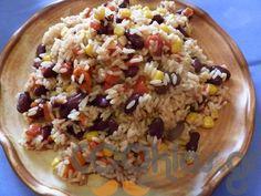 Μεξικάνικο ρύζι με κόκκινα φασόλια Oatmeal, Grains, Rice, Breakfast, Food Food, The Oatmeal, Morning Coffee, Rolled Oats, Seeds