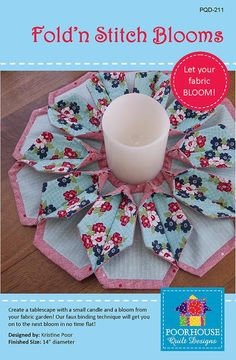 Fold'N Stitch Blooms-another version like the Fold N Stitch wreath-very interesting