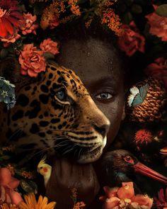 The Wonderful World Of Fantasy And Feeling Of The Artist Marcel Van Luit - beautiful animals Art Black Love, Black Girl Art, Black Women Art, Marcel, Regard Animal, Art Amour, Art Magique, Images D'art, Bird Canvas