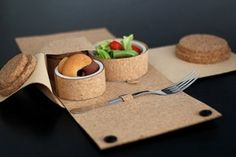 """Corticeira Amorim presented The Lunch Box at Milan Design Week. Is a project of the TRANSIT design for the city that, taking advantage of the international phenomenon of """"takeaway"""" lunches, presents new models of cork lunch boxes. Nova, New Model, Box Design, A Food, Bakery, Eat, Tableware, Projects, Milan Design"""