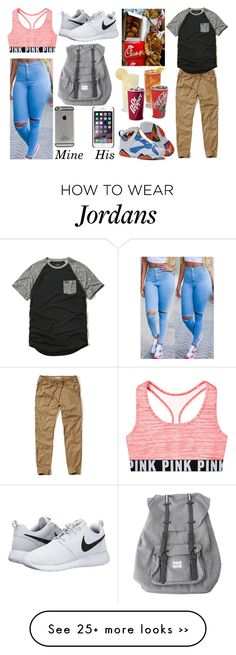 """Read d"" by chloebeauty101 on Polyvore featuring Herschel, Hollister Co. and NIKE"