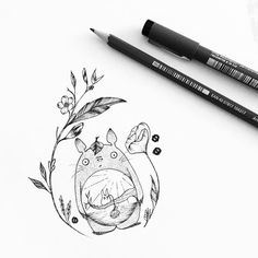 Did this Totoro design for Shauni! All my favorite things combined, I loved it! #totoro #myneighbortotoro #ghibli #flowers #botanical #pen #pencil #drawing #illustrator #illustration #design #tattoo #ink #dotwork #linework #art #artwork #instaart #artist #blackwork #blackworkers #blackandwhite #instafollow #evasvartur