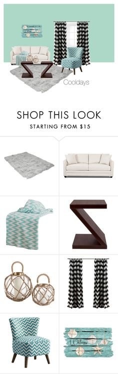 """Beach, Chevron, Living Room"" by cooldays ❤ liked on Polyvore featuring interior, interiors, interior design, home, home decor, interior decorating, Rizzy Home, Dot & Bo and living room"