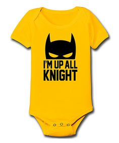 Look at this #zulilyfind! Yellow 'I'm Up All Knight' Bodysuit - Infant by KidTeeZ #zulilyfinds