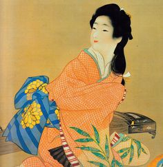 Uemura Shoen, First woman to receive the Order Of Cultural Merit in Japan via mando maniac Classic Art, Japanese, Japanese Artists, Bonsai Art, Japanese Prints, Japanese Woodblock Printing, Art, Geisha Art, Interesting Art