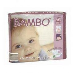 Pañal Ecológico Maxi 9-18kg - 25 unidades - Bambo, $10.13