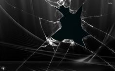 Broken Black Glass « GraphicHD | Free HD Wallpapers and Graphics