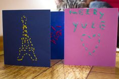 Embroidered greeting cards make great thank you cards or Valentines!