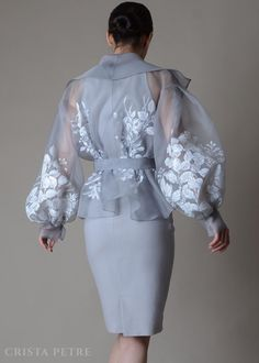 Silk Organza, Organza Dress, Filipino Fashion, Chinese Fashion, Space Fashion, Fashion Design, Tea Length Skirt, Blouse Styles, Couture Fashion