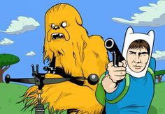 star wars guns yellow han solo chewbacca adventure time crossover_www.paperhi.com_28.jpg (400×278)