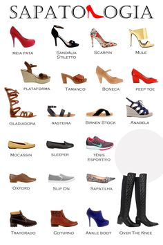 Types of footwear, shoes, boots, chart glossary (infographic) Sapatologia How To Have Style, My Style, Fashion Terms, Fashion Dictionary, Fashion Vocabulary, Mode Chic, Personal Stylist, Types Of Shoes, Ideias Fashion