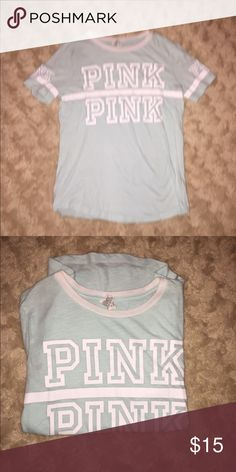 PINK CAMPUS TEE XS XS worn once didn't like the color on me PINK Victoria's Secret Tops Tees - Short Sleeve