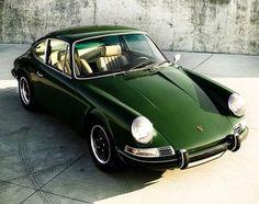 Vintage Emerald Green Porsche