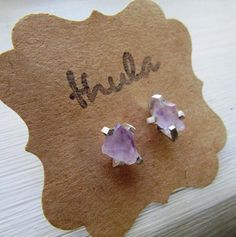 Shop for amethyst on Etsy, the place to express your creativity through the buying and selling of handmade and vintage goods. Raw Amethyst, Amethyst Earrings, Stud Earrings, Gingerbread Cookies, Studs, Gemstones, Trending Outfits, Unique Jewelry, Handmade Gifts