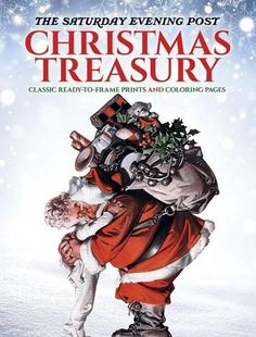 The Saturday Evening Post Christmas Treasury Prints and Coloring Book - The Classy Chics #sponsored