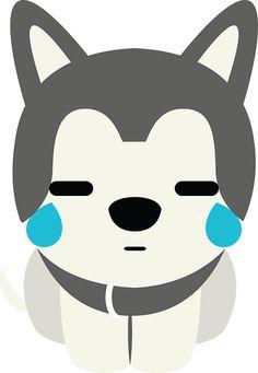 Siberian+Husky+Emoji+Teary+Eyes+and+Sad+Look
