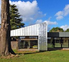 Stainless steel wrapped home in the English countryside