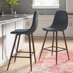 "Koby 26"" Swivel Bar Stool | Joss & Main 24 Bar Stools, Counter Height Stools, Modern Bar Stools, Kitchen Stools, Swivel Bar Stools, Bar Counter, Modern Chairs, Kitchen Dining, Kitchen Decor"
