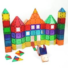 Playmags - 3D magnetic building blocks, a fantastic resource for light box use. Easily connected to move easily from 2 dimensional to 3 dimensional creations.
